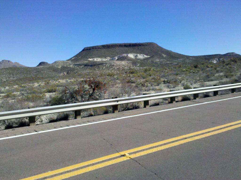 An Arizona Butte along US 70.
