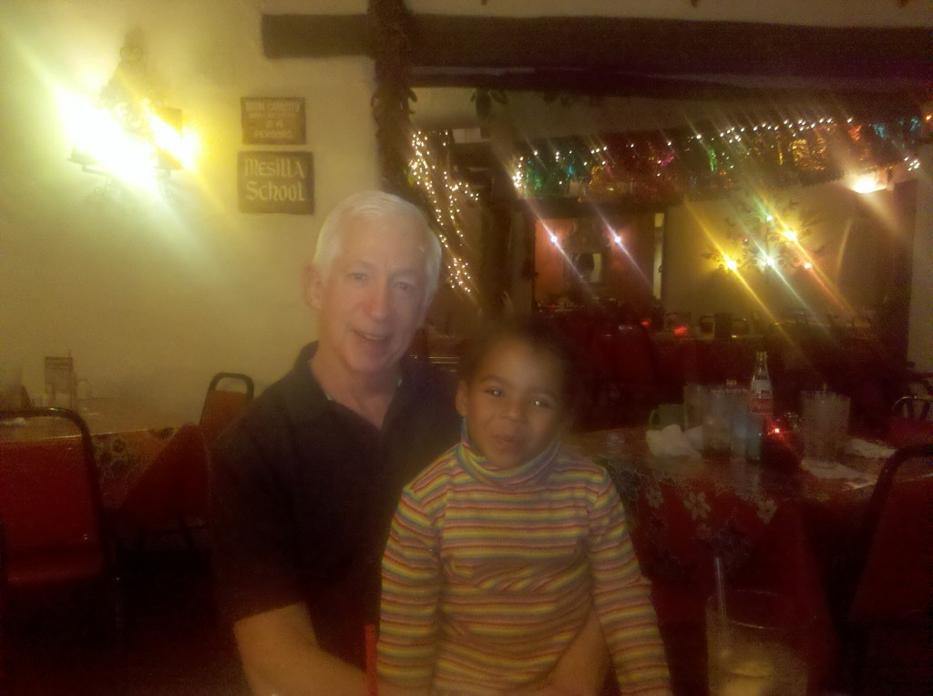 Brian and Nalla at La Posta Restaurant, Mesilla, NM.