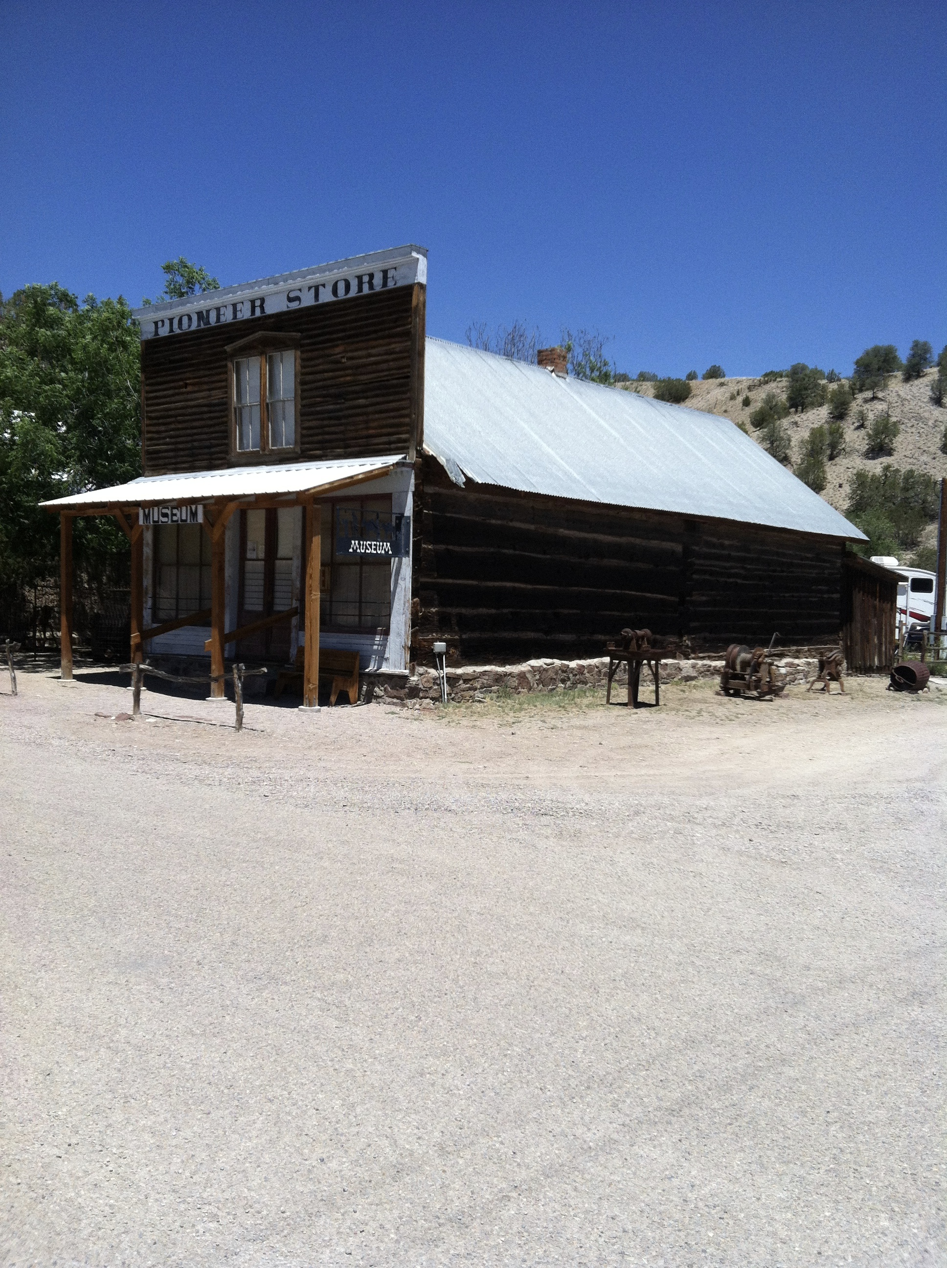 Pioneer Store and museum. Boarded up for more than 50 years.