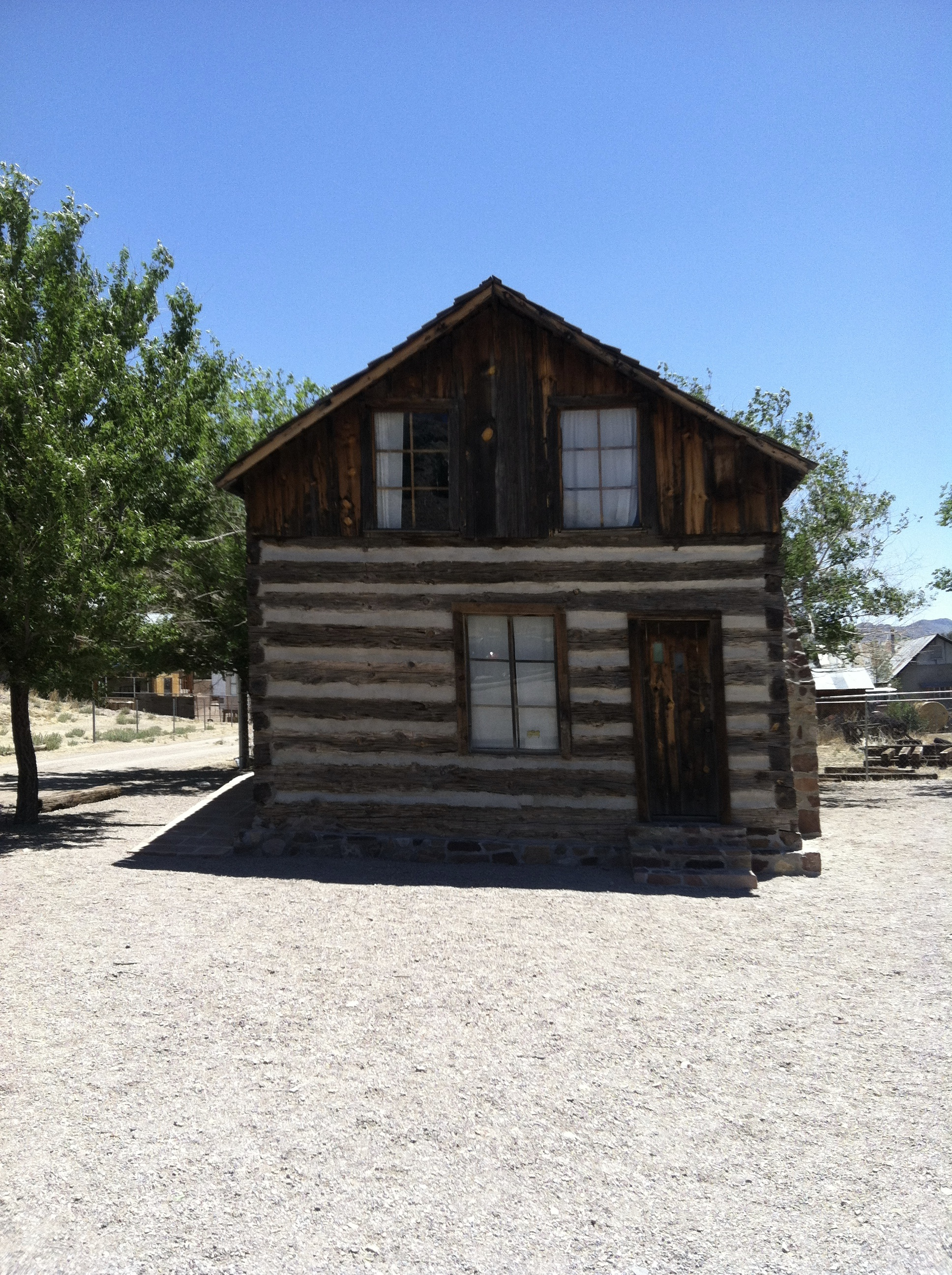 A small cabin that was moved here from further down the main street.