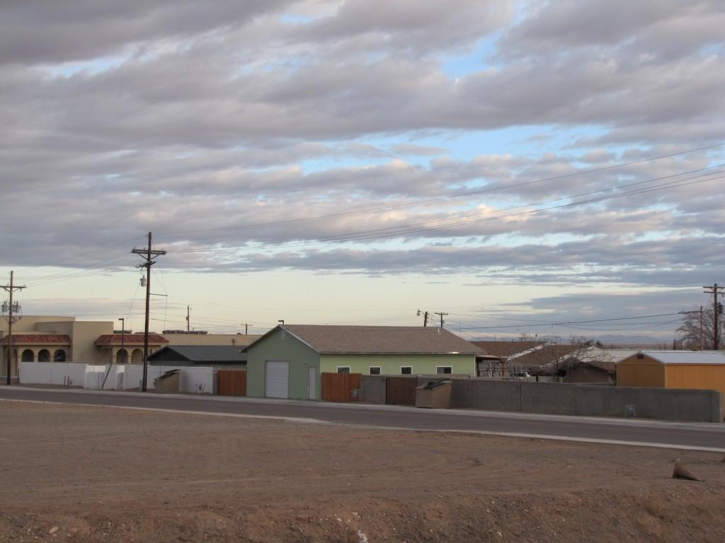 The sun rises over Lordsburg