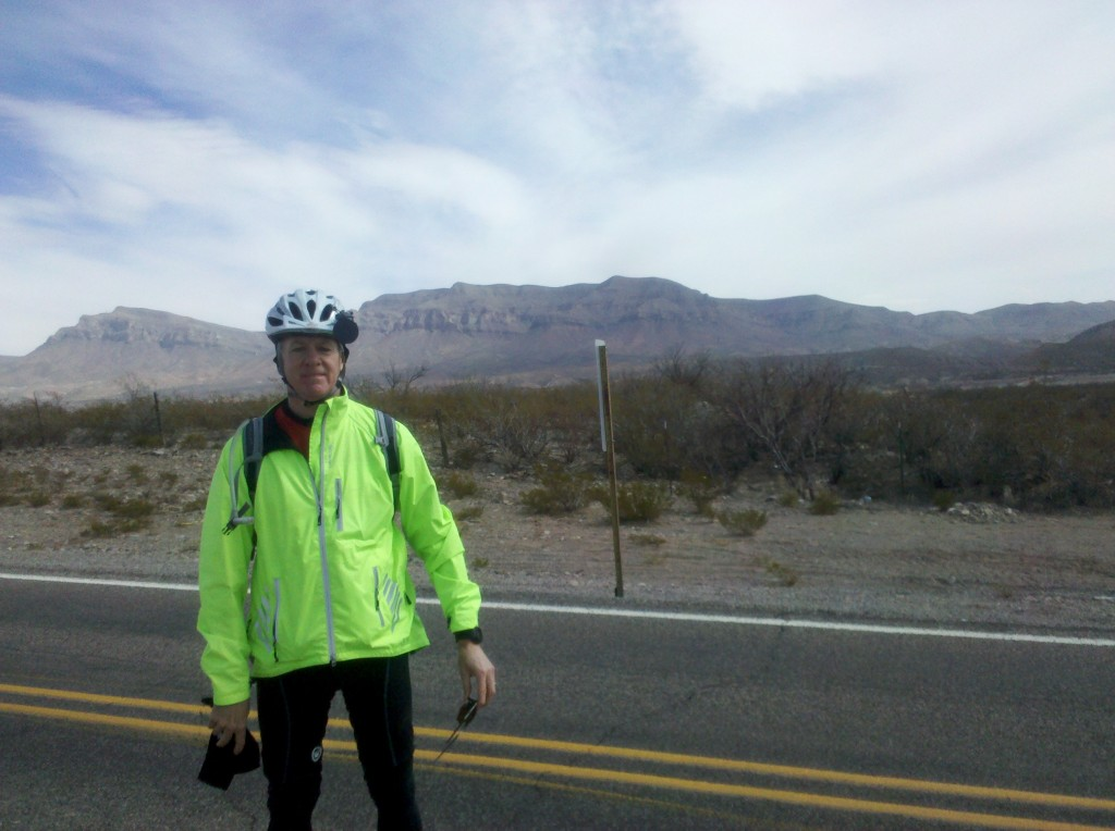 Mark at break along NM 187.