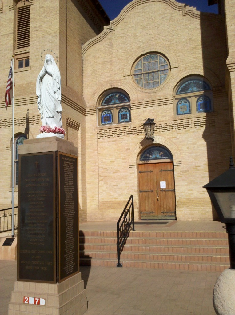 Catholic Cathedral in Mesilla, NM.