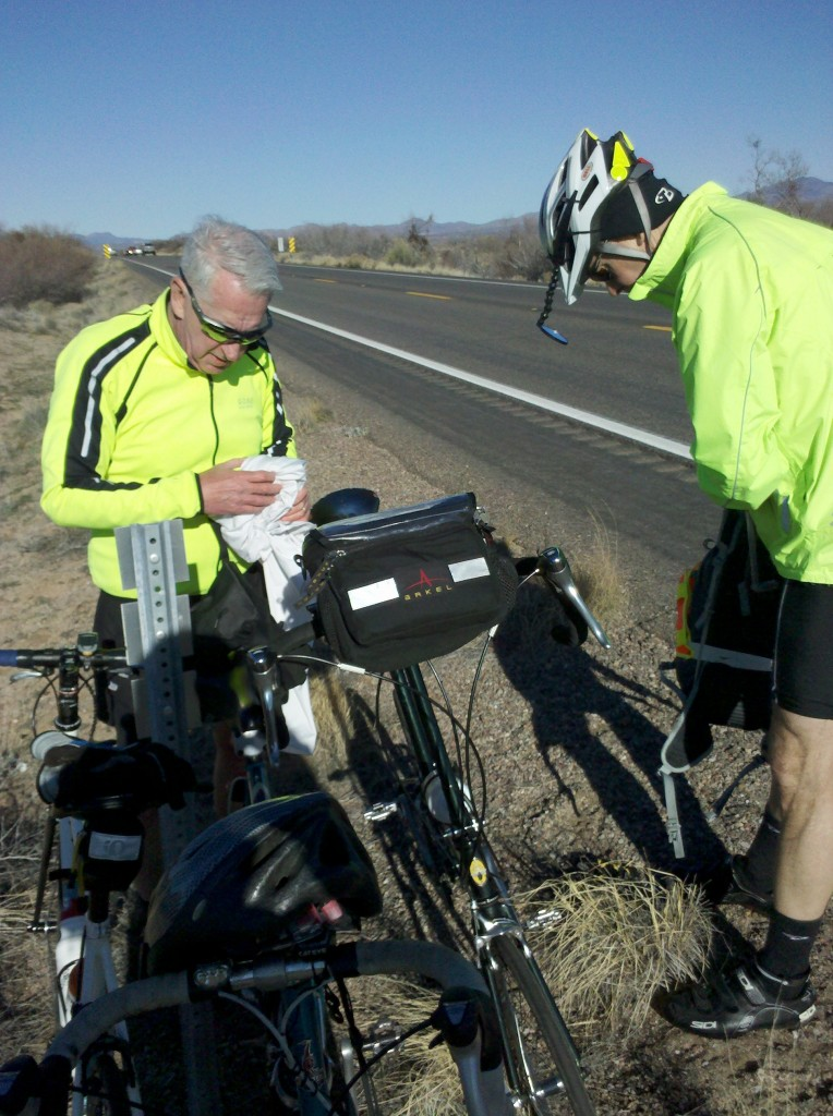 Tim and Mark some 10 miles out of Globe on US70.