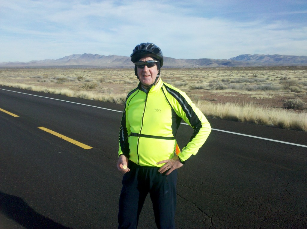 Tim at first rest stop along U.S. 70, 12 miles outside Safford, AZ.