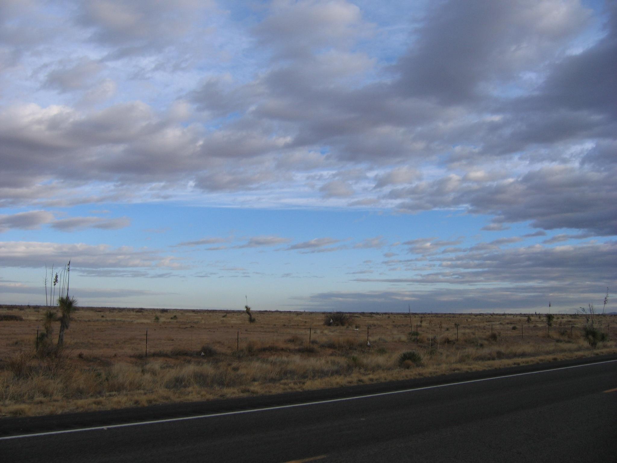 Early morning sky looking back towards Lordsburg at 7:30 this morning