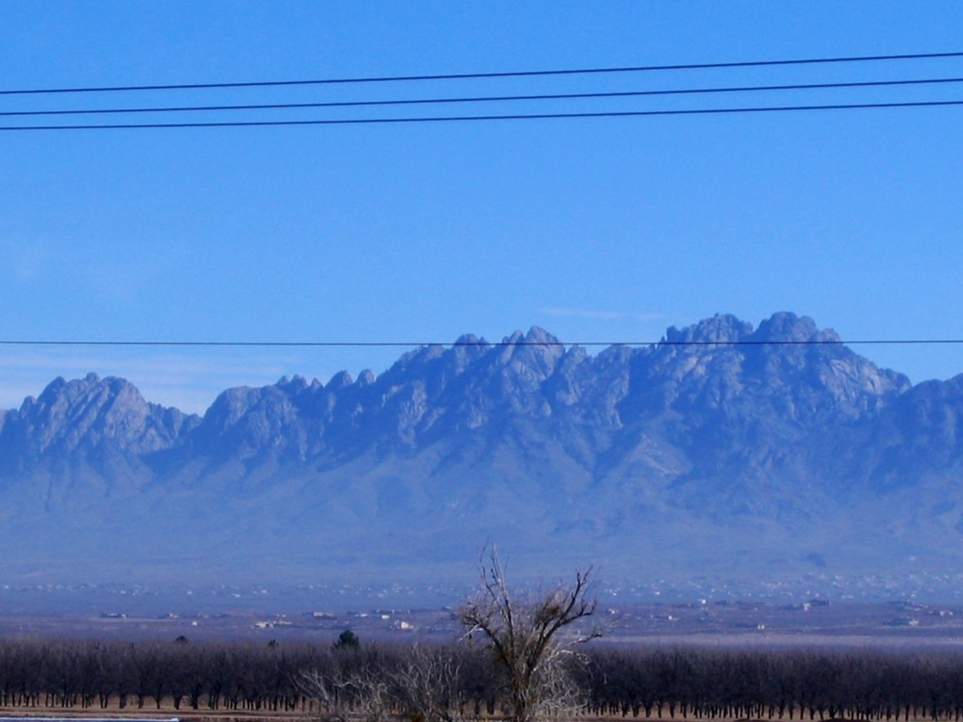 The Organ Mountains were visible for about 15 miles.