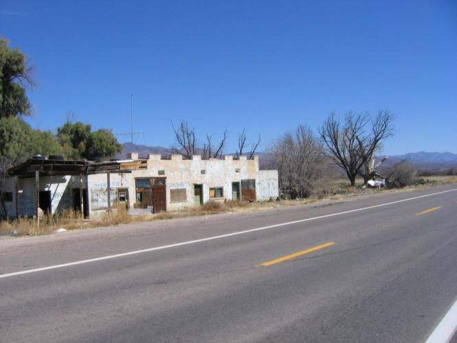 This is all that you can see of the town of Geronimo, AZ. It is at the eastern end of the reservation.
