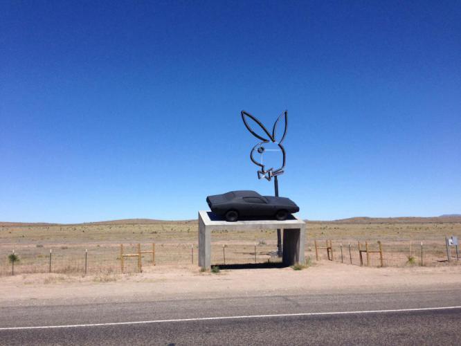 Another roadside work of art in Marfa, TX.