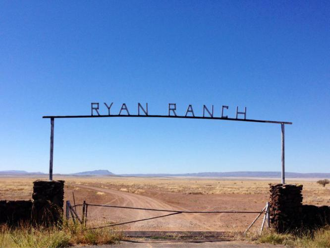 Many of the ranch entrances have ornate signs like this.