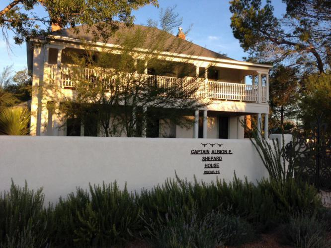 The Captain Shepard House. It has 5 private rooms with baths and a butler's kitchen. Beautiful landscaping but I forgot to get any pictures of the gardens around the house.