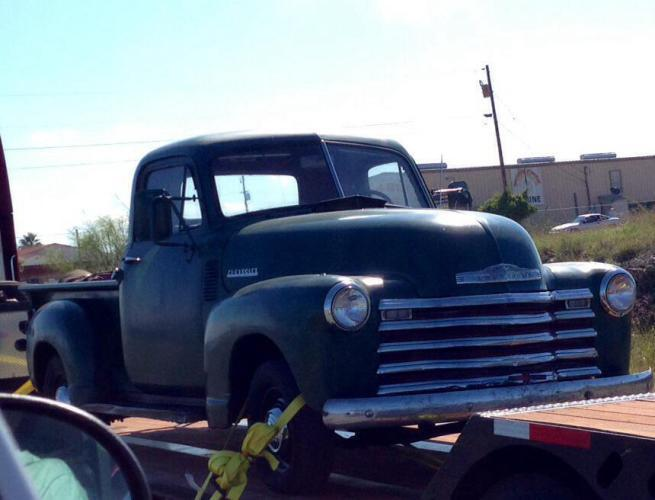 "The grand daddy of ""Silver,"" our Chevy Silverado pick up. Kevin or Ted, what year is this truck?"