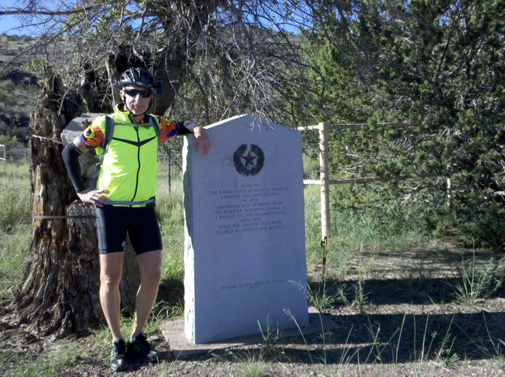 Brian at Historical Marker on TX 118 outside Fort Davis.  You'll have to ask Tim what the marker said.  And I was just kidding about this being one of the better photos of the day. :)