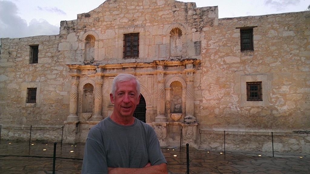 Brian at the Alamo.