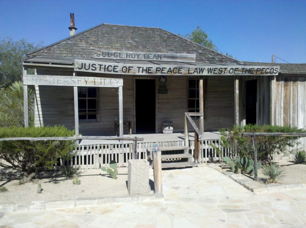 Judge Roy Bean Courthouse, Langtree, TX.  This free historic attraction, offered by the Texas Department of Transportation, Travel Information Division, is well worth of visit!