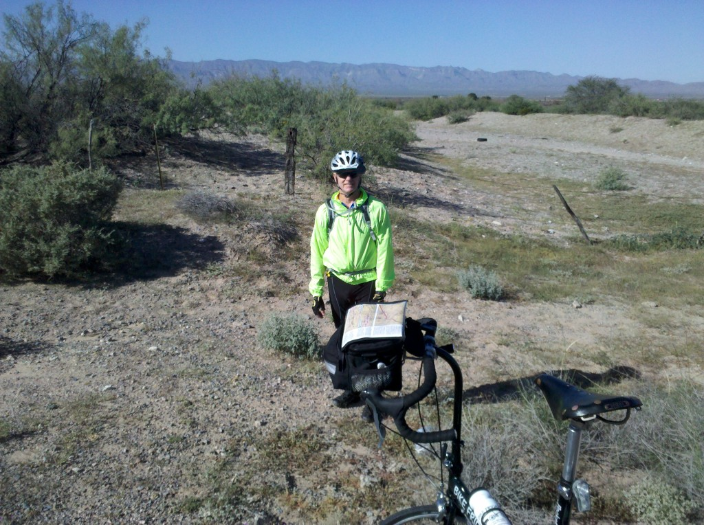 Mark at our 1st rest stop along TX 192