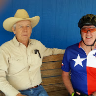 Tim and Mr. Billy Riggs in Sabinal. TX.
