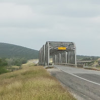 Bridge along US 90.  It was a tight fit crossing this bridge, but all the truckers gave us a wide berth.