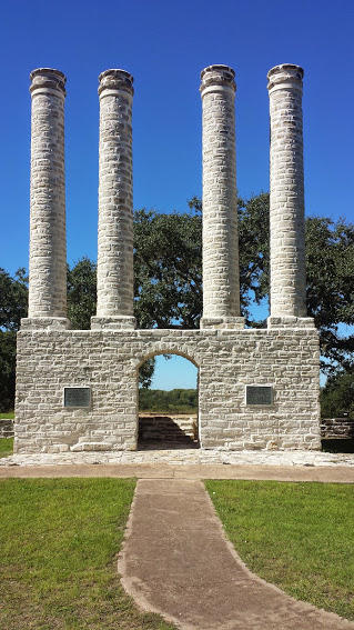 These pillars are all that remains of Baylor Female College, near Independence, TX.  They are pretty impressive, so the campus building must have been also.