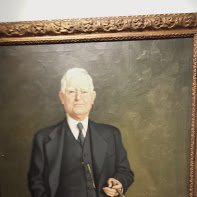 Portrait of John Nance Garner hanging in his museum.