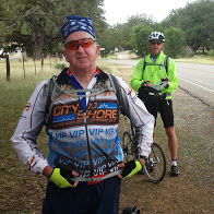 Tim and Mark at one of our last rest stops on TX Famr Road 470.