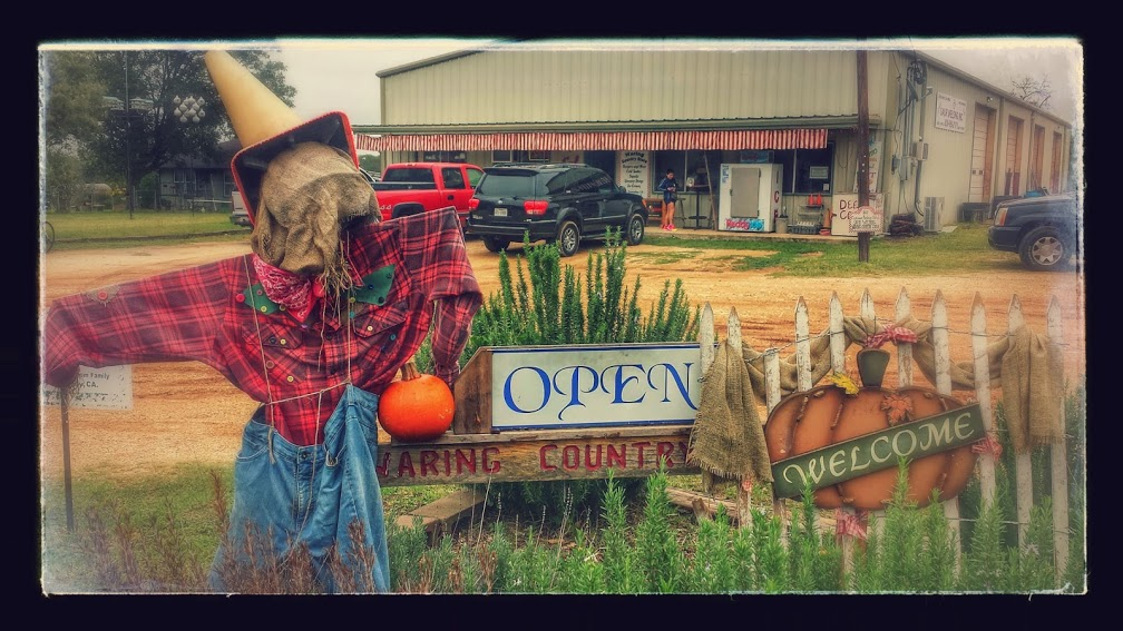 Halloween is really big here in the Texas Hill Country, but I can't imagine kids walking from ranch to ranch to go trick or treating.....