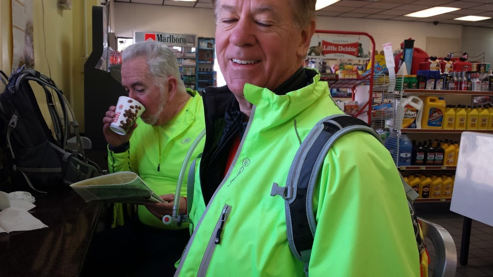 Mark and Tim at Burger King in Buna, TX, our first rest stop of the day.  We each had a breakfast sandwich and a nice, hot coffee!