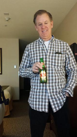 Mark enjoying a post-ride Dos Equis!