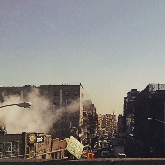The cold, gritty streets of New York City, on the way to La Guardia