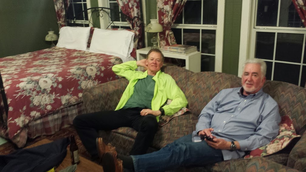 Mark and Tim relaxing after we made it to the Butler Greenwood Plantation B&B.  This place has been in the Butler family for about 8 generations, since the 1790's!