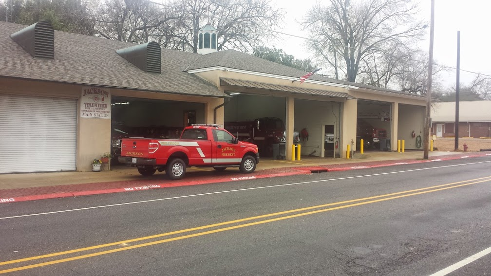 Volunteer firehouse in Jackson, LA