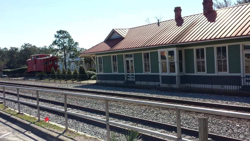 DeFuniak Springs Train station - our 2nd stop of the day.