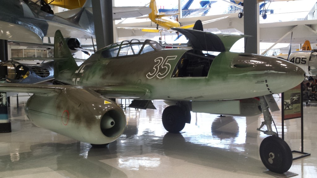 German Me-262 jet aircraft, which the Germans deployed near the end of WWII. I'm not sure there is really any connection between this aircraft and naval aviation, but it is a very famous aircraft nonetheless.