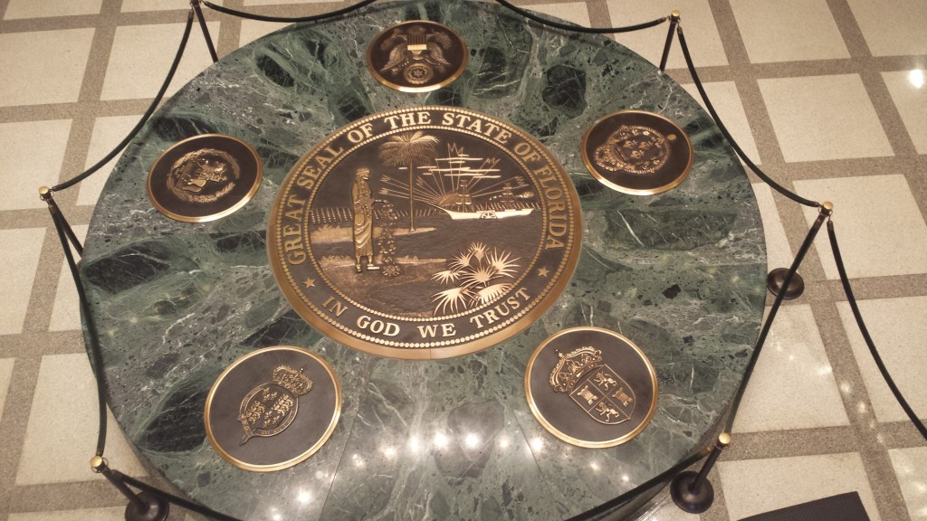 Great seal of the State of Florida, located in the Capitol Building.