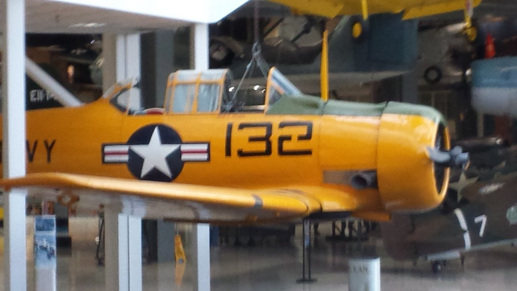 SNJ - WWII trainer aircraft, which my Uncle Paul flew at NAS Pensacola.