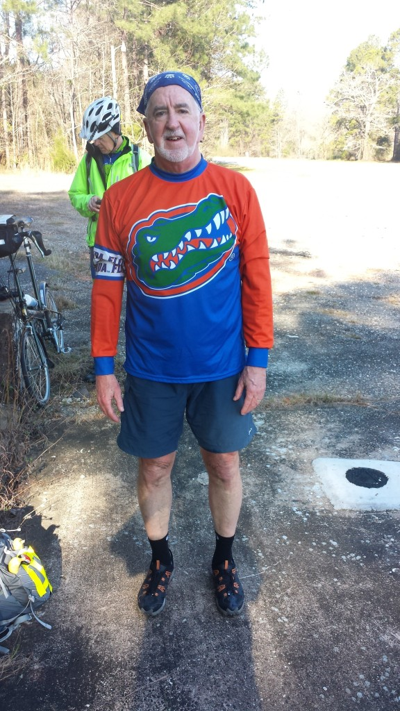 Tim in his other Florida biking jersey at our first stop along US 90. Did Matt or Marcia get his this one? I'm sure we'll find out tomorrow when Matt joins us.