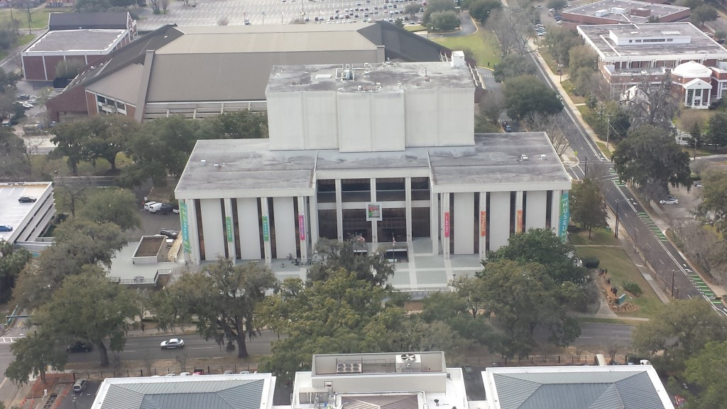 View of the Museum of Florida History from the 22nd Floor Observatory in the Florida Capitol Building.