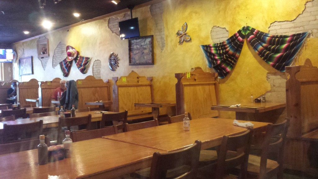 Interior of Rancho Grande Mexican Restaurant in downtown Madison, FL.