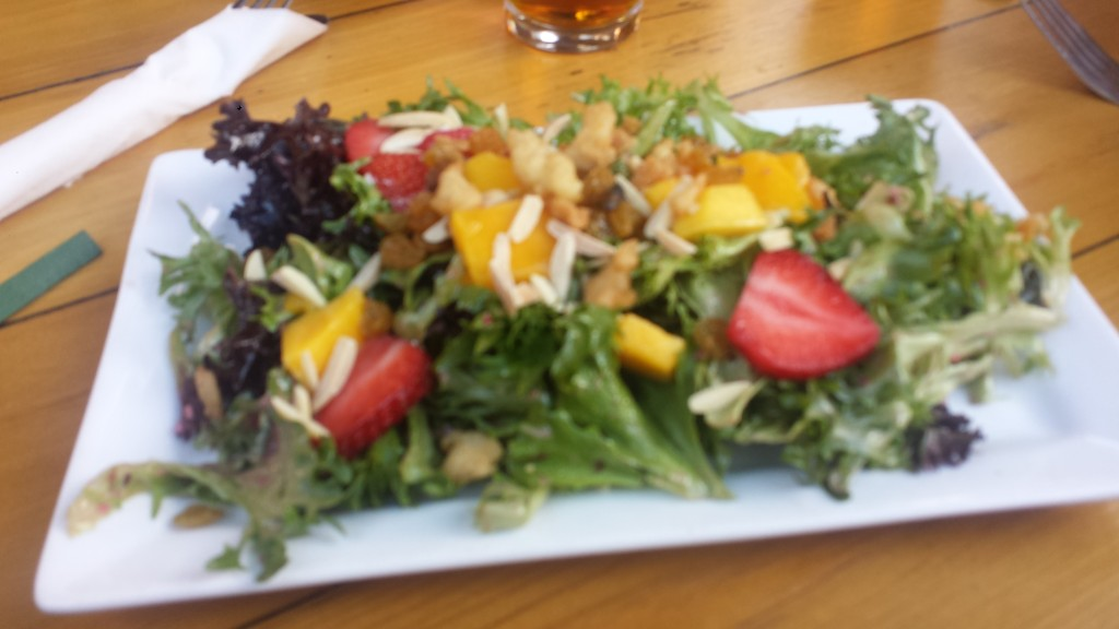 Side order garden salad at the Great Outdoors Restaurant High Springs FL