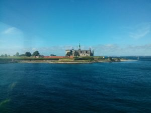 Kronborg Castle from the ferry heading into Helsingoer.
