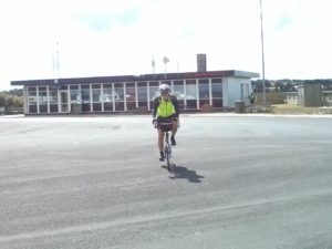 Tim approaching the ferry to Als.