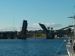 The bridge to Dybboel on the mainland peninsula of Jutland.