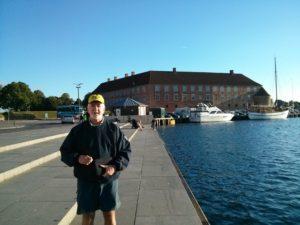 Tim in front of Soenderborg Castle
