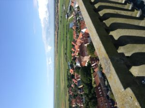 The view from the top of one of those churches we saw from miles away. That is the North Sea in the distance.