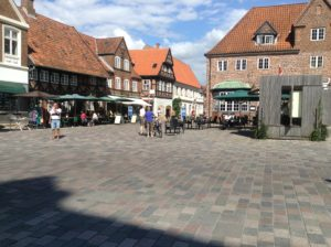 Ribe town square. Larger open spaces than in the others we have seen.