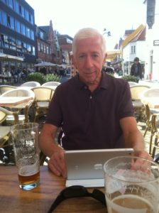 A relaxed moment at outdoor cafe in Roskilde.